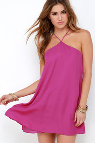 Lucy Love Almost Famous Magenta Dress at Lulus.com!