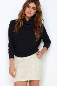 Others Follow Cambridge Cream Knit Skirt at Lulus.com!