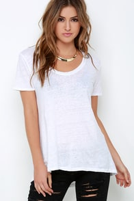 Project Social T Layin' Low Ivory High-Low Top at Lulus.com!