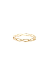 Weave Got the Beat Gold Ring at Lulus.com!