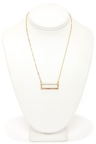 Double Team Gold Rhinestone Necklace at Lulus.com!