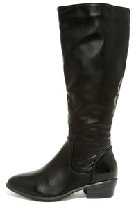 Sleek at the Knees Black Knee-High Boots at Lulus.com!