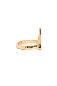 Until V Meet Again Gold Knuckle Ring at Lulus.com!