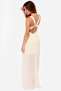 In Demand Cream Maxi Dress at Lulus.com!