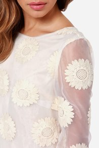 Organza Bonanza Embroidered Cream Dress at Lulus.com!