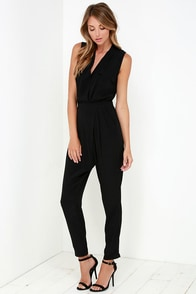 You Send Me Black Jumpsuit at Lulus.com!