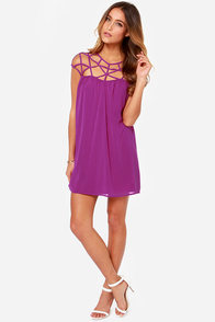 LULUS Exclusive All the Cage Magenta Purple Dress at Lulus.com!