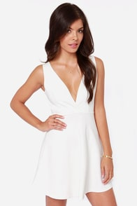 Flirt Alert Ivory Dress at Lulus.com!