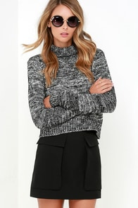 Ten-Hut Black Mini Skirt at Lulus.com!