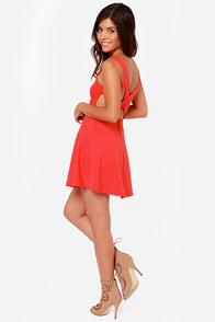 Flirt Alert Red Dress at Lulus.com!