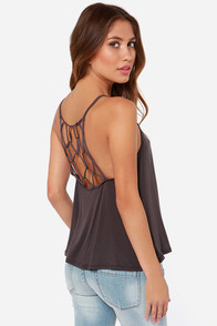 Net Amused Grey Tank Top at Lulus.com!