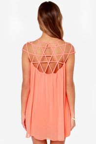 LULUS Exclusive All the Cage Neon Coral Dress at Lulus.com!