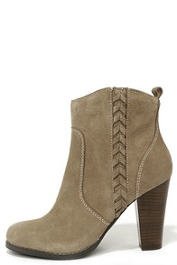 Very Volatile Wright Taupe Suede Leather Ankle Boots at Lulus.com!