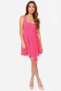 LULUS Exclusive Tie Way or the Highway Pink Dress at Lulus.com!