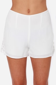 Wild Love Ivory Lace Shorts at Lulus.com!