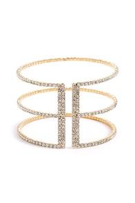 Bound by Beauty Gold Rhinestone Bracelet at Lulus.com!