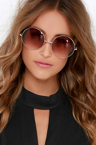 Hippie Hill Brown Sunglasses at Lulus.com!