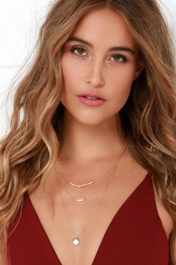 Sands of Time Gold and Pearl Layered Necklace at Lulus.com!