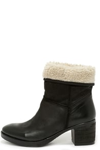 Report Signature Fireside Black Suede Leather Fold-Over Boots at Lulus.com!