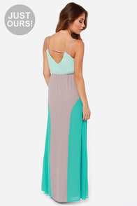 LULUS Exclusive By Your Side Mint Color Block Maxi Dress at Lulus.com!