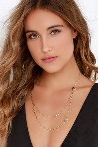 Stolen Kiss Gold Necklace at Lulus.com!