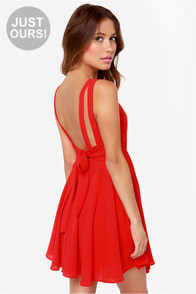 LULUS Exclusive Tie Way or the Highway Red Dress at Lulus.com!