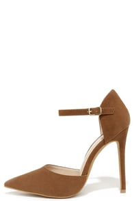 Got it Bad Brown Suede Ankle Strap Heels at Lulus.com!