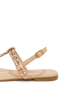 Bamboo Josalyn 06 Nude and Rose Gold Thong Sandals at Lulus.com!