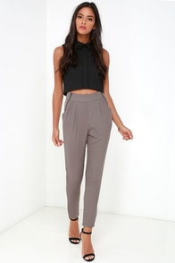 All About That Sass Taupe Trouser Pants at Lulus.com!