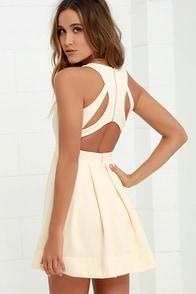 Test Drive Light Blush Dress at Lulus.com!