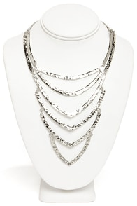 Raising the Bar Silver Necklace at Lulus.com!