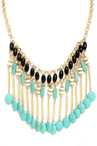 Amaz-On the Move Turquoise Beaded Necklace at Lulus.com!