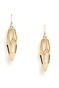 Queen Bee Gold Earrings at Lulus.com!