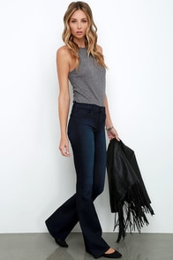 Jean Pool Dark Wash Flare Jeans at Lulus.com!