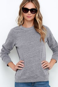 Obey Triblend Grey Sweatshirt at Lulus.com!