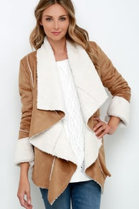Somedays Lovin' Hail Sunrise Tan Sherpa Coat at Lulus.com!
