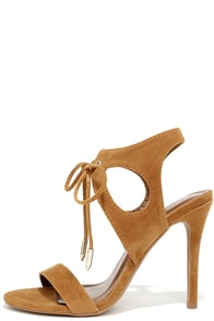 It's My Party Chestnut Brown Lace-Up Heels at Lulus.com!