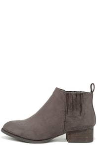 Right on Time Grey Suede Ankle Boots at Lulus.com!
