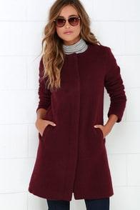 BB Dakota Regan Burgundy Coat