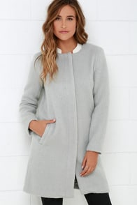 BB Dakota Regan Light Grey Coat at Lulus.com!