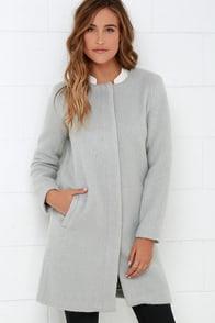 BB Dakota Regan Light Grey Coat at Lulus.com!