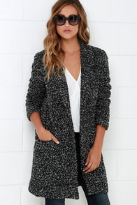 BB Dakota Donovan Grey and Black Coat at Lulus.com!