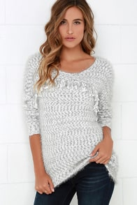 All Too Well Grey and Ivory Sweater at Lulus.com!