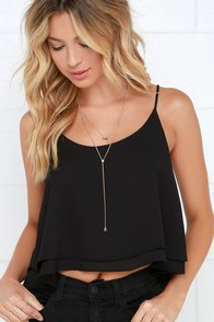 Should've Been Us Black Crop Top at Lulus.com!