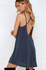 Loyal Ally Navy Blue Backless Dress at Lulus.com!