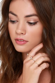 Pack O' Pretties Gold Ring Set at Lulus.com!