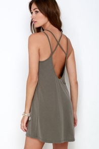 Loyal Ally Taupe Backless Dress at Lulus.com!
