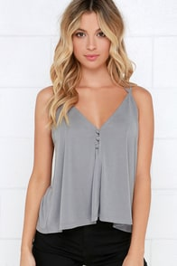 Sweet Success Grey Crop Top at Lulus.com!