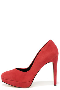 Charles by Charles David Flip Red Suede Leather Platform Pumps at Lulus.com!
