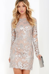 Dress the Population Grace Silver Sequin Dress at Lulus.com!